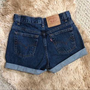 Vintage Levi's High Waisted Mom Shorts
